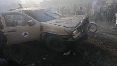 Photo of Magnetic Mine Explosion Destroyed Military Vehicle in Kabul