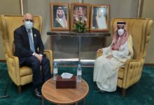 Photo of Minister Atmar Meets his Saudi Arabian Counterpart