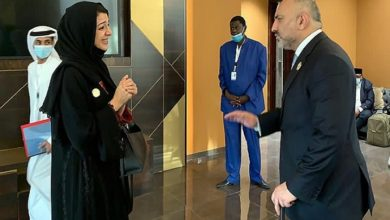 Photo of Minister Atmar Meets UAE's State Minister for International Cooperation