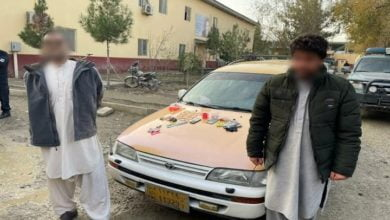 Photo of Five Criminals Detained Khost and Laghman