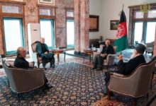 Photo of President Ghani Meets Chairman of HCNR, Former President and Ex-Jihadi Leader