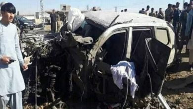 Photo of Convoy Carrying Head of Zabul Provincial Council Target by Suicide Attack