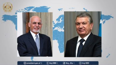 Photo of Afghan and Uzbek Presidents Speak Via Phone